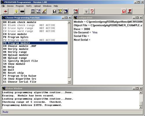 PROG-HL-RS08 / PROGRS08 | RS08 Flash Programmer Software