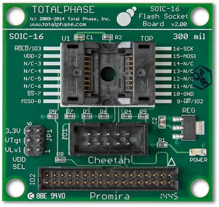 TP282410-Flash SOIC-16 Socket Board - 10/34 - Total Phase